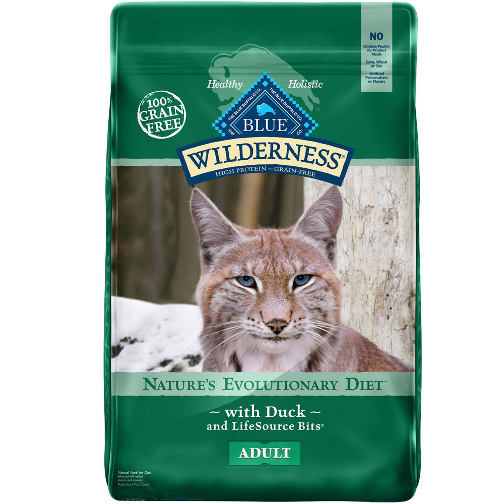 Blue Buffalo Wilderness Grain-Free Adult Natural Cat Food - Duck Recipe