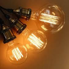 vintage edison bulbs e27 incandescent bulbs g125 g80 filament bulb