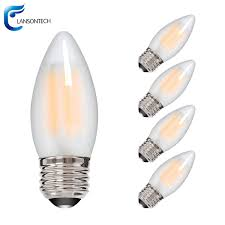 lansontech 6 watt led filament candelabra bulb dimmable warm