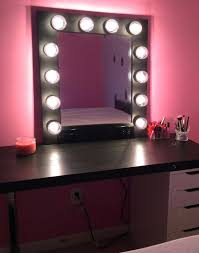 dressing table mirror with lights uk light bulbs contemporary
