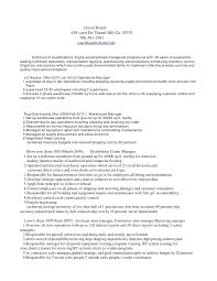 Warehouse Lead Resume Format