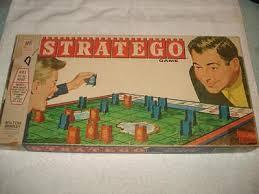 Vintage 1961 Stratego War Board Game