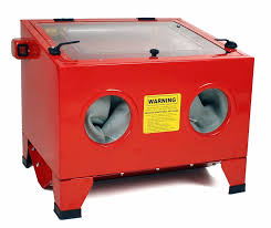 Harbor Freight Blast Cabinet Assembly by Dragway Tools Model 25 Bench Top Sandblasting Sandblast Cabinet