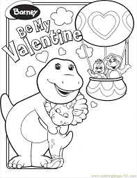 Coloring Pages Koljr Barney Vdprintable Cartoons