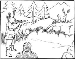 Image Of Deer Hunting Coloring Pages
