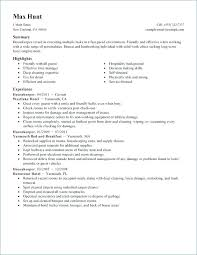 Resume Examples Housekeeping Table Housekeeper To Stand Out Sample For Hospital Supervisor