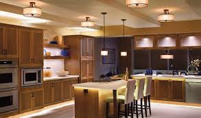 kitchen island light combined with chic ceiling lights and cabinet
