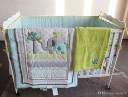 Baby Bedding Set Embroidery 3d Elephant Bird Baby Crib Bedding Set