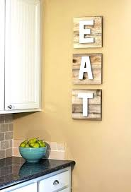 Wall Decor Arrangement Ideas Pictures Pallet Boards With Eat Letters Is A Popular Idea For Decorating
