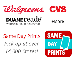Order Same Day Prints from your phone and pick them up in 1 Hour