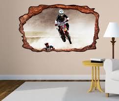 3d wandtattoo motocross motorrad jump sprung selbstklebend wandbild wohnzimmer wand aufkleber 11l2303 wandtattoos und leinwandbilder günstig