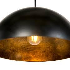 industrielle hängelen schwarz mit gold 50 cm 2 licht magna basic