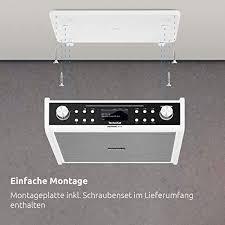 technisat digitradio 20 cd modernes kompaktes dab küchen badezimmerradio empfangstarkes ukw unterbauradio mit cd player uhr