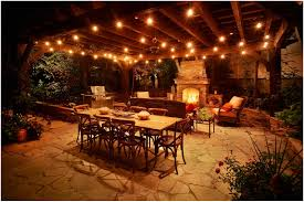 Led Patio String Lights Walmart by Backyards Impressive Love This How To Hang Outdoor Lights What