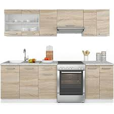 vicco küche raul küchenzeile küchenblock einbauküche 240 cm fronten wählbar
