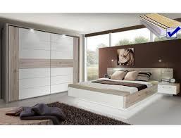 schlafzimmer rubio 20b sandeiche weiß bett komplett nako schrank led expendio