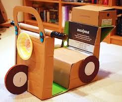 Ikat Bag Cardboard Scooter