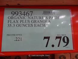 Pumpkin Flaxseed Granola Nutrition Info by Nature U0027s Path Organic Pumpkin Flax Granola