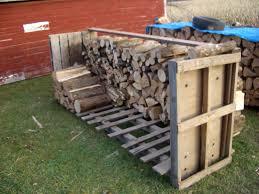 diy outdoor firewood rack storage using reclaimed wood in the