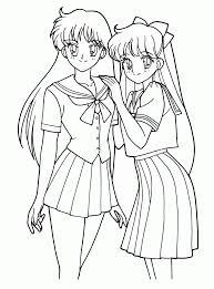 Teenenger Sailor Moon Anime Coloring Pages Kawaii Manga On Book A