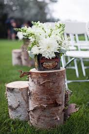 Wood Stump Aisle Decor