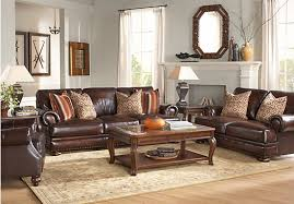 included kentfield2 kentfield brown 6 pc leather living room rooms