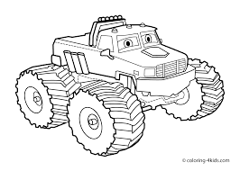 Monster Truck Coloring Page For Kids Books Throughout Jam Pages Printables