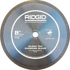 Tile Saw Blades Home Depot by Ridgid 8 In Glass Tile Blade Hd Gt80p The Home Depot