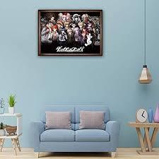 sweet rro17 danganronpa anime poster silk fabric wandbild zimmer deko wand für wohnzimmer schlafzimmer
