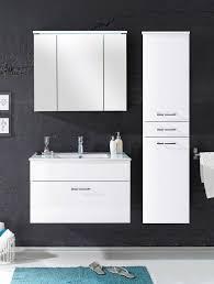 badezimmer kommode splash 80 mit waschbecken 2 tlg set weiß
