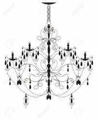 Lighting Drawn Chandelier Ornate Pencil And In Color