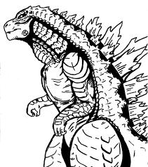 Godzilla Coloring Pages Free