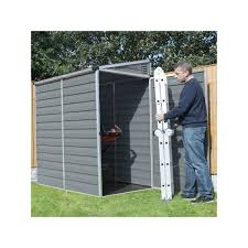 4x6 Outdoor Storage Shed by 4x6 Lean To Skylight Storage Shed Kit Gray Hg9600t