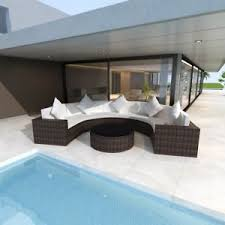 Ebay Patio Furniture Sectional by Outdoor Half Round Lounger Rattan Wicker Sectional Sofa Patio
