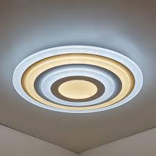 led deckenleuchte modern weiß rund design im schlafzimmer
