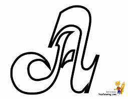 Cursive Alphabet A Coloring Page At YesColoring