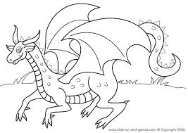 Kids Dragon Coloring Sheets Free At Games Central Kidsgamescentral