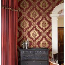 Kenneth James Zoraya Burgundy Damask Wallpaper Sample-2618 ... Graham Brown 56 Sq Ft Brick Red Wallpaper57146 The Home Depot Wallpaper Canada Grey And Ochre Radiance Removable Wallpaper33285 Kenneth James Eternity Coral Geometric Sample2671 Mural Trends Birds Of A Feather Stunning Pattern For Bathroom Laura Ashley Vinyl Anaglypta Deco Paradiso Paintable Luxury Wallpaperrd576 Gray Innonce Wallpaper33274 Brewster Blue Ornate Stripe Striped Wallpaper Shower Tub Tile Ideasbathtub Ideas See Mosaic