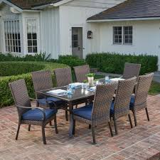 Royal Garden Anacortes 9-Piece Aluminum Outdoor Dining Set With ... Klaussner Outdoor Delray 7piece Ding Set Hudsons Breeze Ding Chair Alinum Frame Harbour Suncrown Brown Wicker Fniture 5piece Square Modern Patio To Enjoy Lovely Warm Summer Awesome Patio Quay Chair By King Living Est Living Design Directory Room Charming Image Of For Hampton Bay Belcourt Metal With Walmartcom Bilbao Five Piece Falster Ikea I Love The Looks Of This Outdoor Ding Set Table 10 Easy Pieces Chairs In Pastel Colors Gardenista