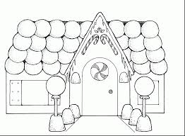 Gingerbread House Printable Coloring Pages
