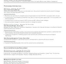 Sample Resume Of Retail Banking With Banker Manager For Bankers Download Examples