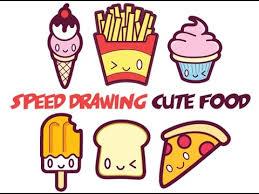 Cute Food Drawing At GetDrawings Speed
