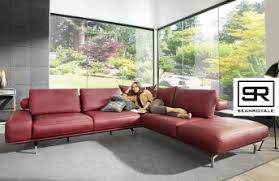canape cuir et tissu canapés d angle cuir tissu méridienne chaise longue ou sur