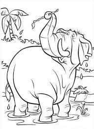 Jungle Book Curious Elephant Coloring Page Coloringplus 178825