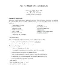 Cashier Objective Resume Examples Example Of Sample Template Best Fast Food Server Great