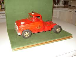 1958 VINTAGE TONKA Truck Tractor (Cab) For The Aerial Ladder Fire ...