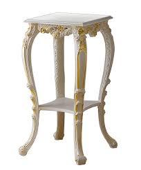 stehtisch für blumenvase le geschnitzter stehtisch aus holz möbel in lackierter farbe mit goldenen details wohnzimmer esszimmer flur