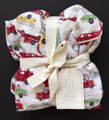 POTTERY BARN KIDS FIRETRUCK FLANNEL PAJAMAS SIZE 6 *TYLER* DEFECT ...
