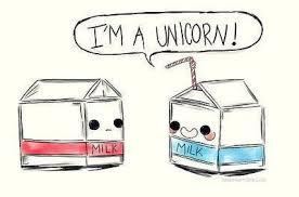 Unicorn Milk And Funny Image