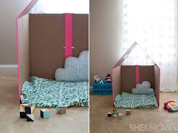 turn a plain cardboard box into a super cool playhouse with this